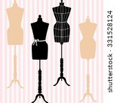 mannequin silhouette. fashion ... | Shutterstock .eps vector #331528124