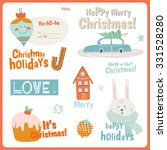 cute vector cards  notes ... | Shutterstock .eps vector #331528280