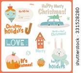 cute vector cards  notes ... | Shutterstock .eps vector #331528280