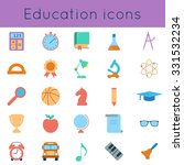 set icons of education and... | Shutterstock .eps vector #331532234