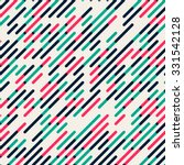 Vector Seamless Parallel Diagonal Red Green Overlapping Color Lines Pattern Background | Shutterstock vector #331542128
