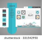 flat website template. vector...