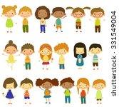 set of vector kids of different ... | Shutterstock .eps vector #331549004