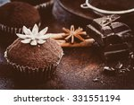 homemade cupcakes decorated... | Shutterstock . vector #331551194
