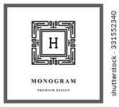 geometric monogram logo.... | Shutterstock .eps vector #331552340
