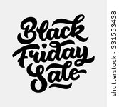 black friday sale handmade... | Shutterstock .eps vector #331553438