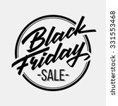 black friday sale badge with... | Shutterstock .eps vector #331553468