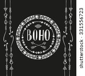 hand drawn sign in boho style... | Shutterstock .eps vector #331556723