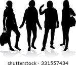 women silhouettes. | Shutterstock .eps vector #331557434