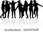 women silhouettes. | Shutterstock .eps vector #331557449