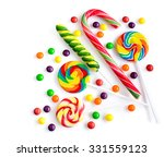 colorful candies isolated over... | Shutterstock . vector #331559123