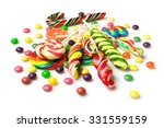 Colorful Candies Isolated Over...
