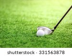 golf club and ball on green... | Shutterstock . vector #331563878