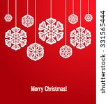 christmas paper card with... | Shutterstock .eps vector #331565444
