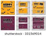 collection of halloween... | Shutterstock .eps vector #331569014