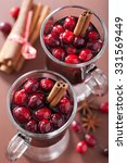 glass of mulled wine with... | Shutterstock . vector #331569449