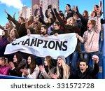 sport fans holding champion... | Shutterstock . vector #331572728