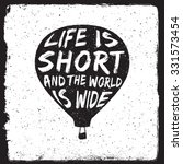 hand drawn travel inspirational ... | Shutterstock .eps vector #331573454