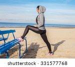 woman in sportswear doing...   Shutterstock . vector #331577768