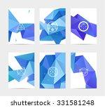 abstract blue user interface... | Shutterstock .eps vector #331581248