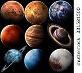 high quality solar system... | Shutterstock . vector #331581500