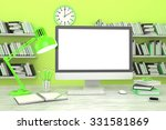 3d illustration pc screen on... | Shutterstock . vector #331581869