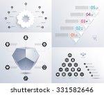 vector set of infographics. 3d... | Shutterstock .eps vector #331582646