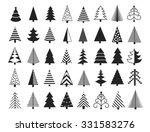christmas tree icons set.... | Shutterstock .eps vector #331583276