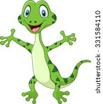 cute lizard posing isolated on... | Shutterstock .eps vector #331584110