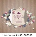 merry christmas  background of... | Shutterstock .eps vector #331585538