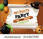 halloween party witch... | Shutterstock .eps vector #331587590