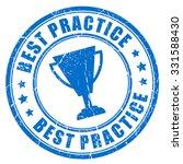 best practice ink rubber stamp... | Shutterstock .eps vector #331588430