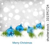 illustration christmas glassy... | Shutterstock .eps vector #331591724