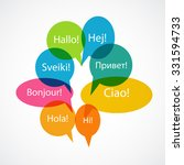 set of speech bubble with hello ... | Shutterstock . vector #331594733