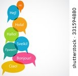 set of speech bubble with hello ... | Shutterstock . vector #331594880