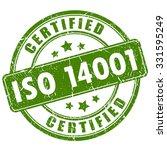iso 14001 certified stamp... | Shutterstock .eps vector #331595249
