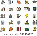 college and education outline... | Shutterstock .eps vector #331596290