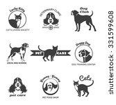 pet club  dog center ... | Shutterstock .eps vector #331599608