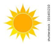 flat sun icon. vector... | Shutterstock .eps vector #331601210