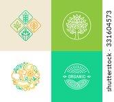 vector linear logo design... | Shutterstock .eps vector #331604573