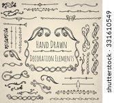 hand drawn decoration elements.   Shutterstock .eps vector #331610549