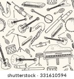 hand drawn musical instruments. ...