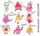 cute monsters. lovely monster... | Shutterstock .eps vector #331611698