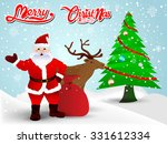 santa claus and christmas... | Shutterstock .eps vector #331612334