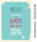 happy new year greeting card.... | Shutterstock .eps vector #331614158
