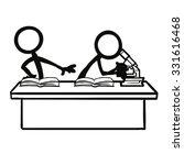 stick figure cheating stealing...   Shutterstock .eps vector #331616468