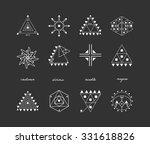 set of geometric shapes. trendy ... | Shutterstock .eps vector #331618826