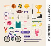 set of vector icons and... | Shutterstock .eps vector #331618970