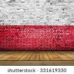 Poland Flag Painted On Brick...
