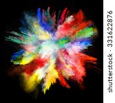 launched colorful powder on... | Shutterstock . vector #331622876